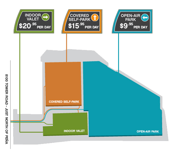 canopy parking map  sc 1 st  Canopy Airport Parking & Denver Airport Parking Rates | Canopy Airport Parking